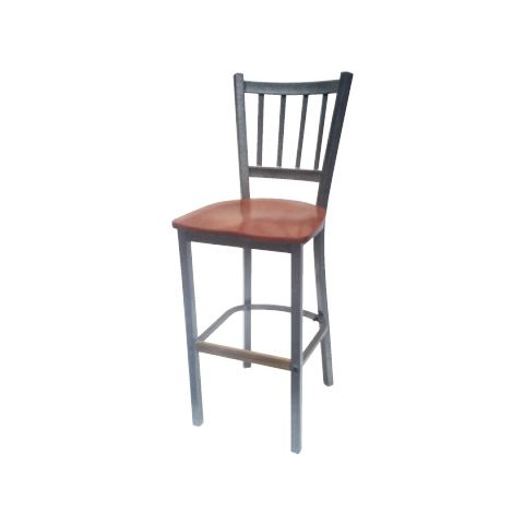 Saddle Wood Metal Frame Restaurant Chair (High)