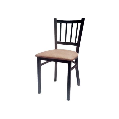 Padded Seat Metal Frame Restaurant Chair