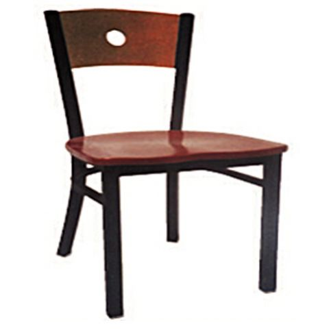 Circle Metal Frame Wood Saddle Restaurant Chair