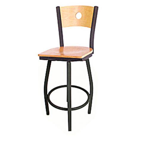Circle Metal Frame Saddle Restaurant Chair