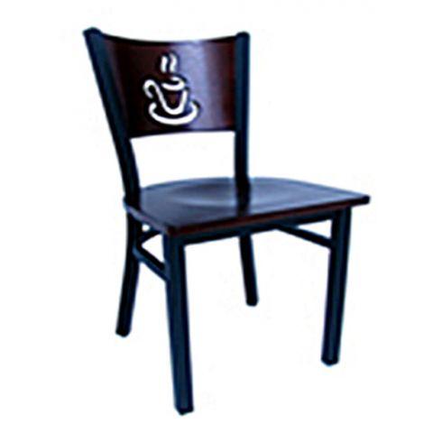 Coffee Cup Metal Frame Saddle Chair