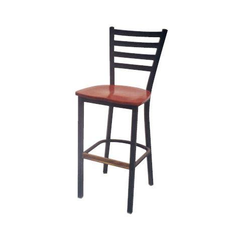 Ladder Metal Frame Saddle Restaurant Chair (High)