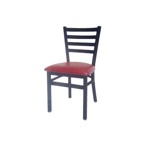 Ladder Metal Frame Padded Restaurant Chair
