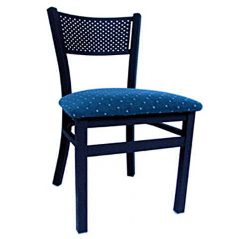 Net Metal Frame Padded Restaurant Chair
