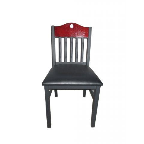 Slats Wood Frame Padded Restaurant Chair