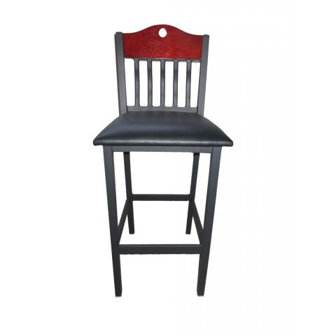 Slats Wood Frame Padded Restaurant Chair (High)