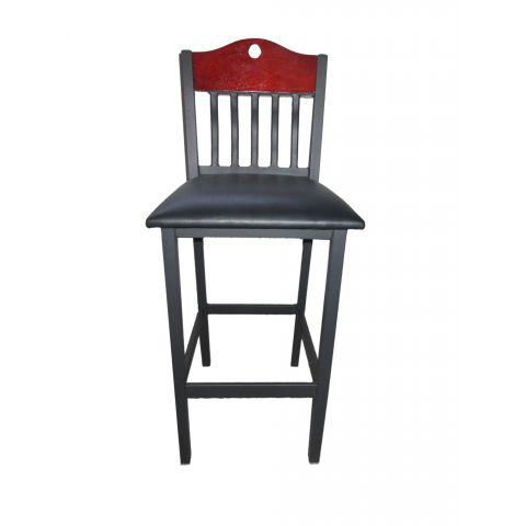 Slats Wood Frame Padded Restaurant Chair (High)
