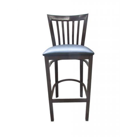Vertical Metal Frame Padded Restaurant Chair (High)