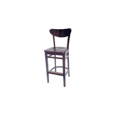 Mahogany Saddle Wooden Restaurant Chair (High)