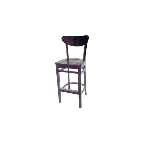 Mahogany Saddle Wooden Restaurant Chair (High)