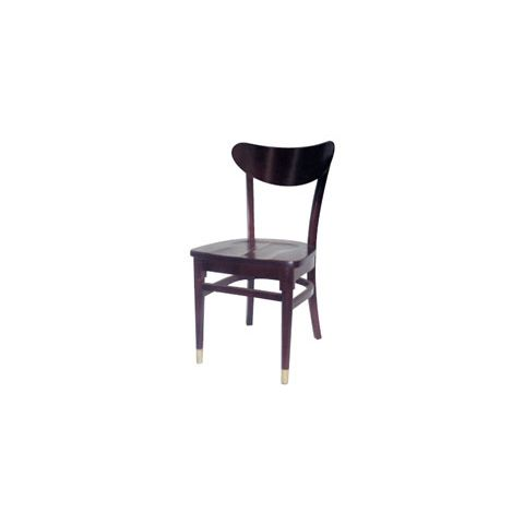 Mahogany Saddle Wooden Restaurant Chair