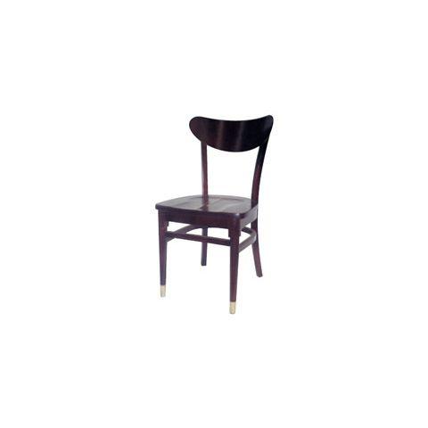 Mahogany Saddle Wooden Restaurant Chair