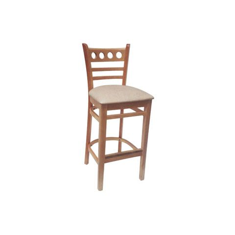 Natural Padded Wooden Restaurant Chair (High)
