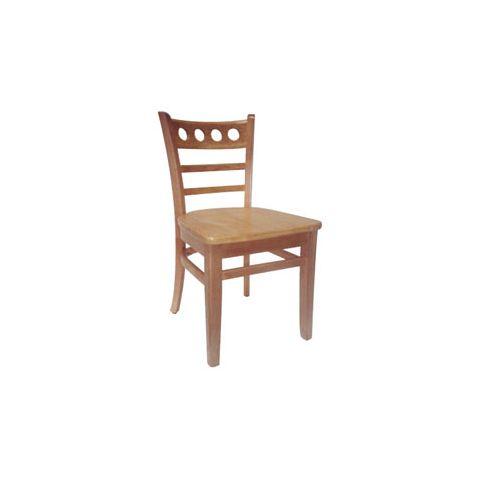 Natural Saddle Wooden Restaurant Chair