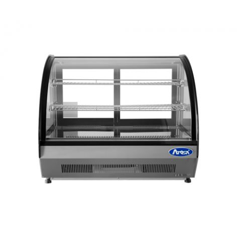 Countertop Refrigerated Display Curved, 3.5 cu.ft. - Atosa USA