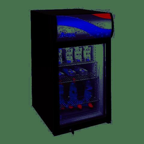 Compact Countertop Merchandiser with Display Panel 3 cu.ft. - Atosa USA